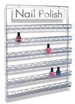Yuan Wall Mounted Metal Polish Rack 90 Bottles (METAL WALL RACK)