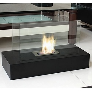 Freestanding Fiamme Ethanol Fireplace by Nu-Flame (NF-F3FIE)