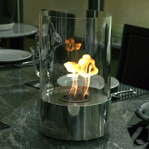 Tabletop Accenda Ethanol Cylinder Fireplace by Nu-Flame (NF-T1ACA)