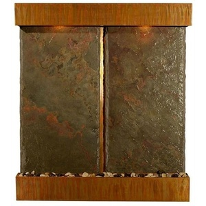 "Lightweight NSI Slate Nojoqui Falls Double Fountain 57.5"" x 51"" by BluWorld of Water (WWDVS)"