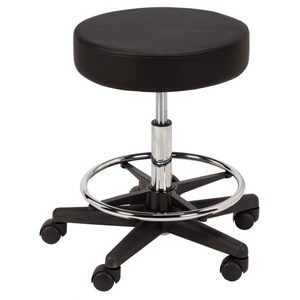 "Round Air-Lift Stool - in Black Sand or White 20.5"" - 28"" Height"