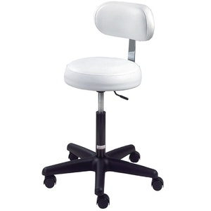Round Air-Lift Stool with Backrest by Equipro (31200)