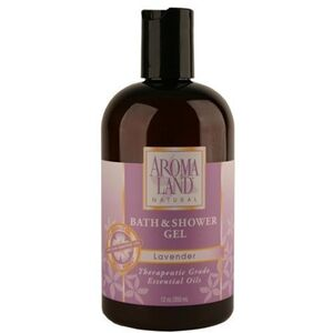 Body Wash Shower Gel - Lavender 12 oz. 6 Pack - Gifts Wedding Favors Retail (7412SGL-6)