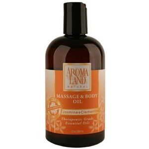 Jasmine & Clementine Body Massage Oil 12 oz. 6 Pack - Gifts Wedding Favors Retail (7412MOJ-6)