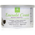 Fleur De Spa Emerald Coast - All Purpose Hard Stripless Wax - 14 oz. Can Box of 8 Cans (F4600 X 8)