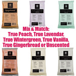 Fleur De Spa Paraffin Wax 1 Lb. Bars x 24 Bars = 24 Lbs. - Mix and Match from True Peach True Lavender True Wintergreen True Vanilla True Gingerbread or Unscented ()