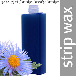 Dermwax Azulen - Cerablue Roll-On Cartridge Wax Strip Wax 3.4 oz. - 75 mL. per Cartridge - Case of 50 Cartridges (5162 X 50)