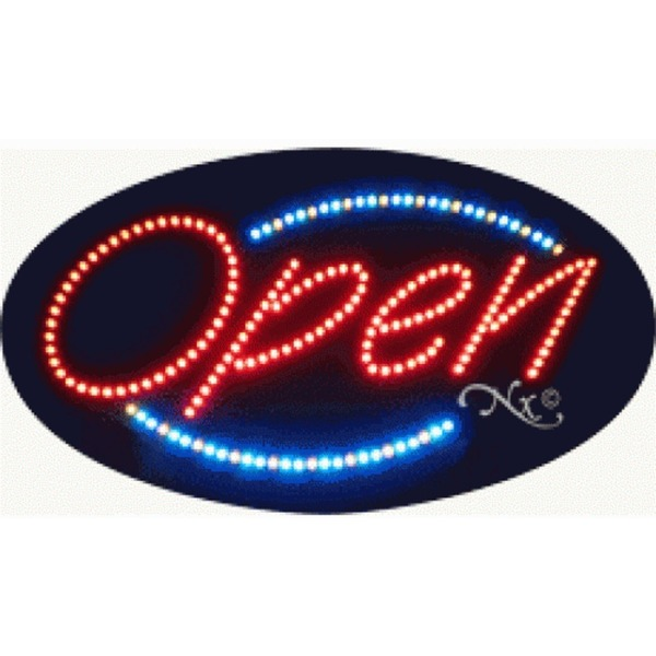 "LED Sign - Open 15""H x 27""W x 1""D (20002)"