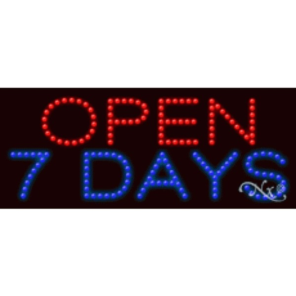 "LED Sign - Open 7 Days 11""H x 27""W x 1""D (20270)"