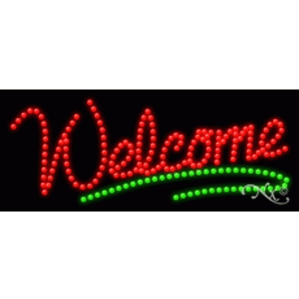 "LED Sign - Welcome 11""H x 27""W x 1""D (20329)"