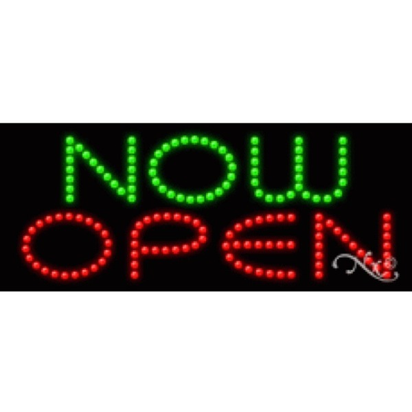 "LED Sign - Now Open 11""H x 27""W x 1""D (21452)"