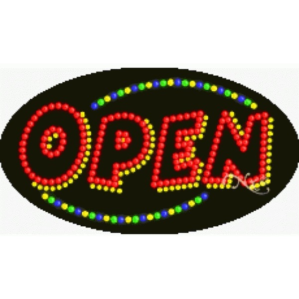 "LED Sign - Open 15""H x 27""W x 1""D (24020)"