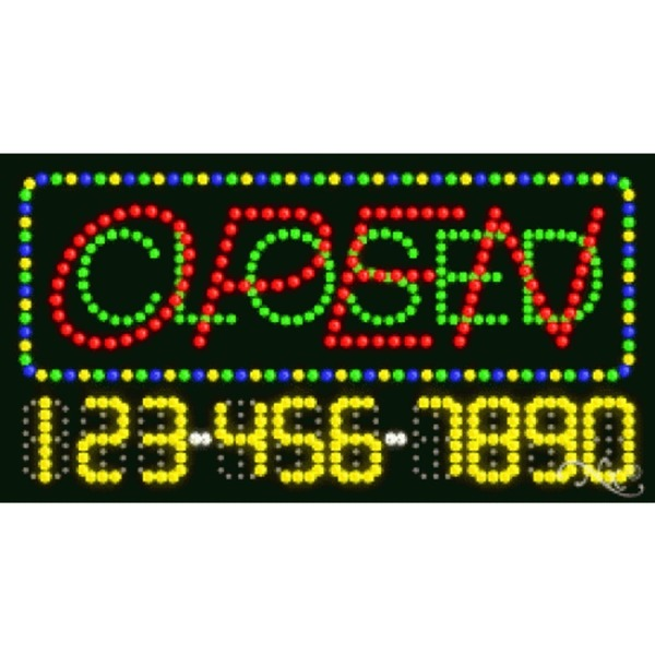 "LED Sign - Open Closed 17""H x 32""W x 1""D (25087)"