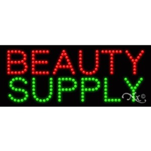 "LED Sign - Beauty Supply 11""H x 27""W x 1""D (20021)"