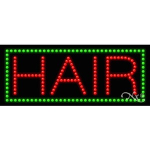 "LED Sign - Hair 11""H x 27""W x 1""D (20070)"