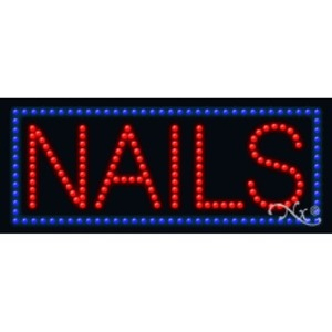 "LED Sign - Nails 11""H x 27""W x 1""D (20093)"