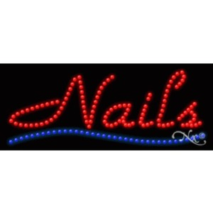 "LED Sign - Nails 11""H x 27""W x 1""D (20094)"