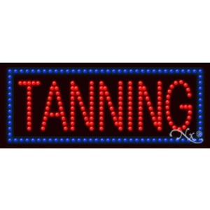 "LED Sign - Tanning 11""H x 27""W x 1""D (20135)"