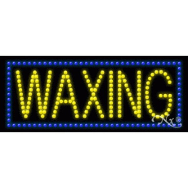 "LED Sign - Waxing 11""H x 27""W x 1""D (20145)"