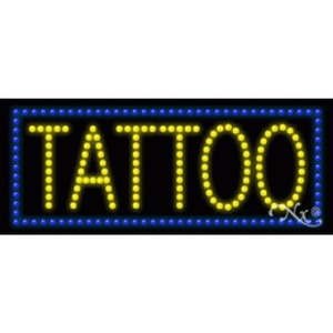 "LED Sign - Tattoo 11""H x 27""W x 1""D (20159)"