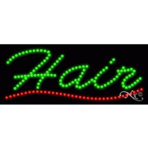 "LED Sign - Hair 11""H x 27""W x 1""D (20166)"