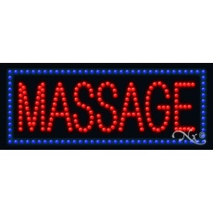 "LED Sign - Massage 11""H x 27""W x 1""D (20167)"