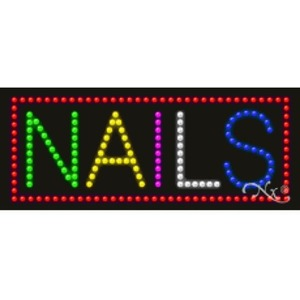 "LED Sign - Nails 11""H x 27""W x 1""D (20168)"