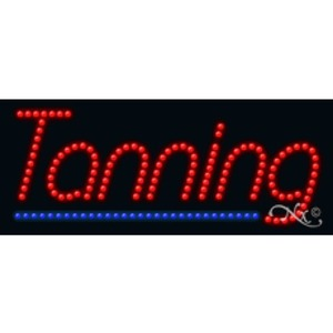 "LED Sign - Tanning 11""H x 27""W x 1""D (20172)"