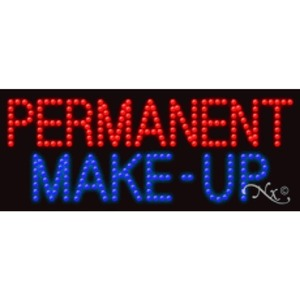 "LED Sign - Permanent Make up 11""H x 27""W x 1""D (20175)"