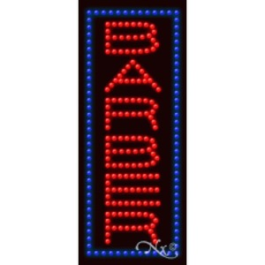 "LED Sign - Barber 27""H x 11""W x 1""D (20310)"