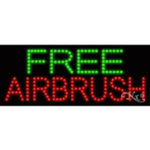 "LED Sign - Free Airbrush 11""H x 27""W x 1""D (20321)"