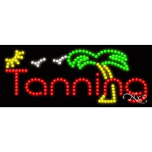 "LED Sign - Tanning 11""H x 27""W x 1""D (20324)"