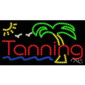 "LED Sign - Tanning 17""H x 32""W x 1""D (20325)"