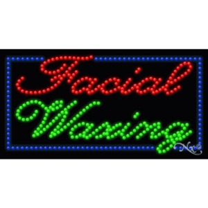 "LED Sign - Facial Waxing 17""H x 32""W x 1""D (20331)"