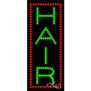 "LED Sign - Hair 27""H x 11""W x 1""D (20333)"