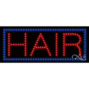 "LED Sign - Hair 11""H x 27""W x 1""D (20339)"