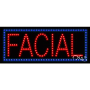 "LED Sign - Facial 11""H x 27""W x 1""D (20340)"