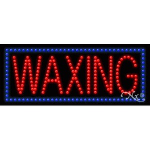 "LED Sign - Waxing 11""H x 27""W x 1""D (20341)"