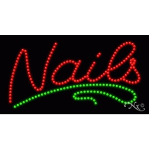 "LED Sign - Nails 17""H x 32""W x 1""D (20345)"