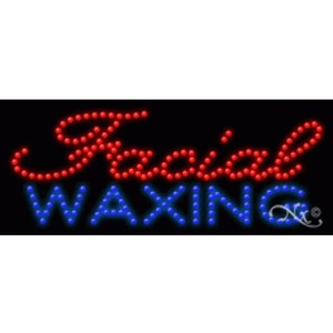 "LED Sign - Facial Waxing 11""H x 27""W x 1""D (20350)"