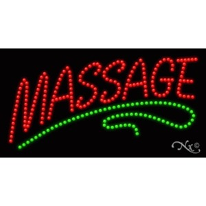 "LED Sign - Massage 17""H x 32""W x 1""D (20352)"