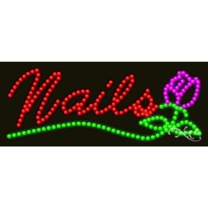 "LED Sign - Nails 11""H x 27""W x 1""D (20363)"
