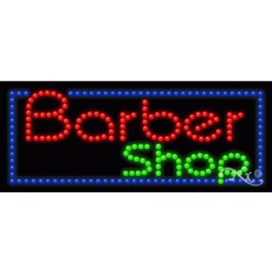 "LED Sign - Barber Shop 11""H x 27""W x 1""D (20383)"