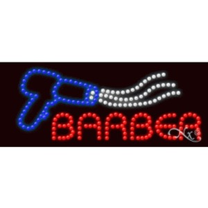 "LED Sign - Barber 11""H x 27""W x 1""D (20385)"