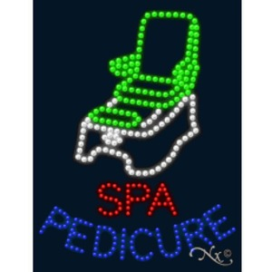 "LED Sign - Spa Pedicure 26""H x 20""W x 1""D (20397)"