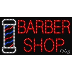 "LED Sign - Barber Shop 17""H x 32""W x 1""D (20423)"