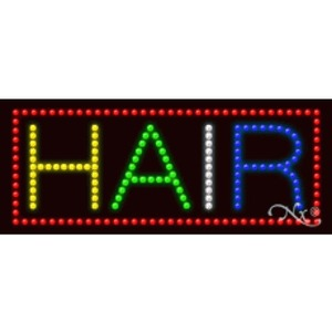 "LED Sign - Hair 11""H x 27""W x 1""D (20432)"