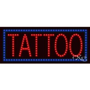 "LED Sign - Tattoo 11""H x 27""W x 1""D (20494)"