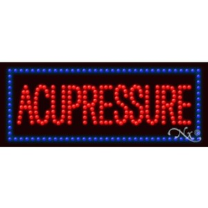 "LED Sign - Acupressure 11""H x 27""W x 1""D (20503)"