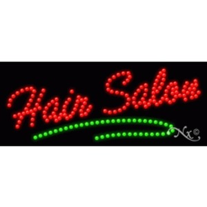 "LED Sign - Hair Salon 11""H x 27""W x 1""D (20558)"